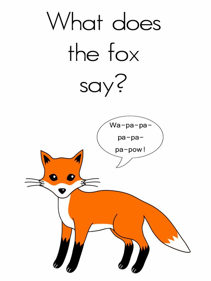 What does the fox say 3x4 card free teen activity ideas pinterest