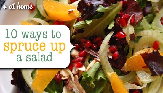 10 ways to spruce up a salad - wasabi peas, prosciutto, pomegranate ...