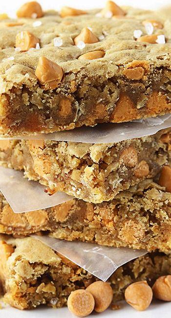 Oatmeal Butterscotch Blondies | Recipe