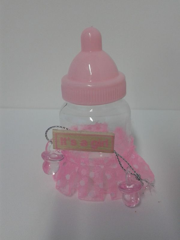 recordatorio tetero con bolero y letrero it s a girl para baby shower