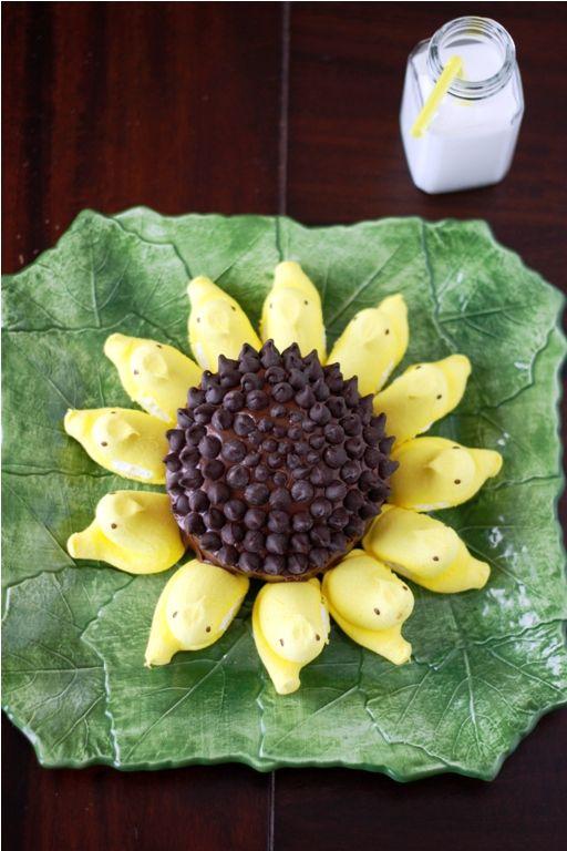 Peeps Sunflower Cake ~ adorbs!