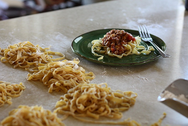 Big Fat Bolognese Sauce with Fresh Pasta by joy the baker, via Flickr