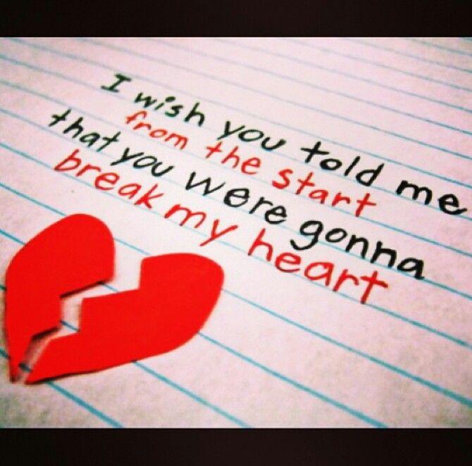 Heart Broken Sad Breakup Quotes Found On Instagram So Cute Pinterest