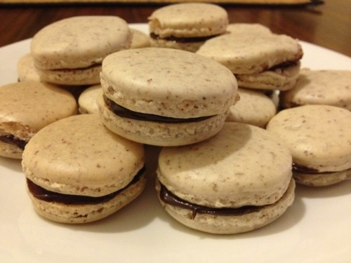 French Macarons with Chocolate Ganache | Love for Food | Pinterest