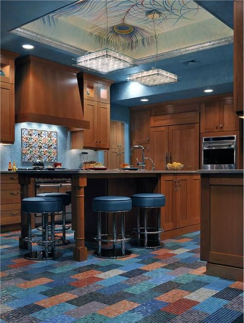Peacock Kitchen Brilliant Of Peacock Inspired Kitchen Images