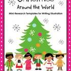 Christmas around the world mini research templates for writing illus