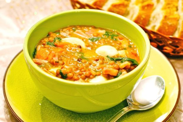 Spanish lentil stew mmmmm on a cold day! | I ♥ Soup | Pinterest