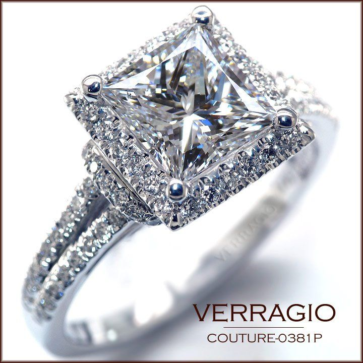 Verragio Engagement Ring, Princess Cut