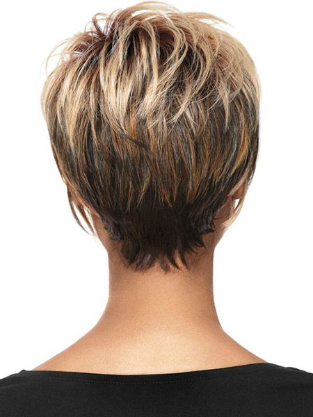Trendy Hair Color Ideas for Women: Short Haircuts Back View / Via