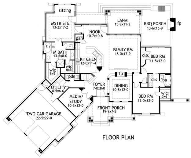 Floor Plan Home Building Ideas Texas Ranch Style House