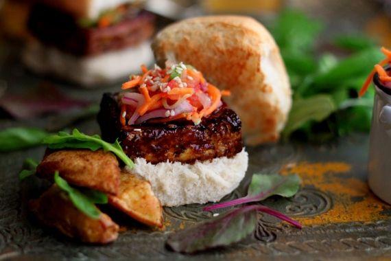 Tamarind-Glazed Tofu Sliders with Kachumbar Slaw - need tamarind space ...