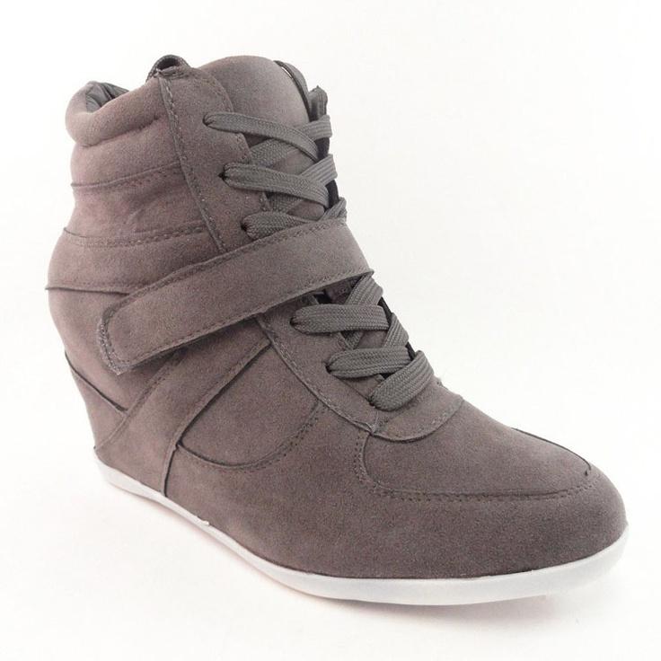 Grey Wedge Sneakers / Bucco $30