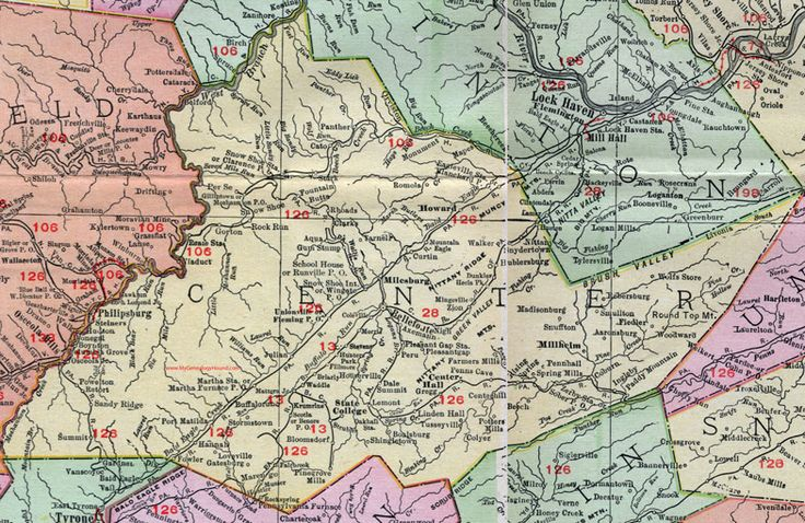 67 Best Historic Pennsylvania County Maps Images On
