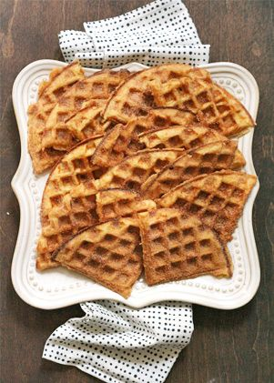 Waffles coated with cinnamon sugar -- these are made with yeast and ...