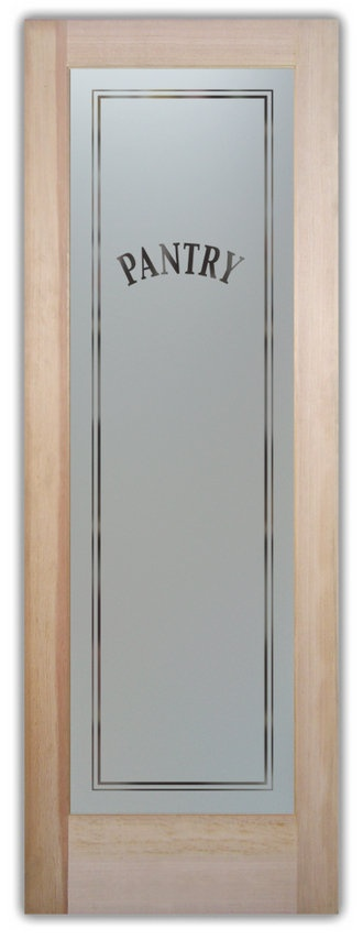 Etched Frosted Glass Pantry Door Kitchen Pinterest