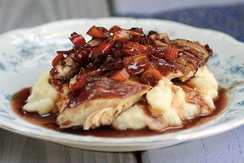 Chicken with Red Wine Sauce | Dinner Ideas | Pinterest