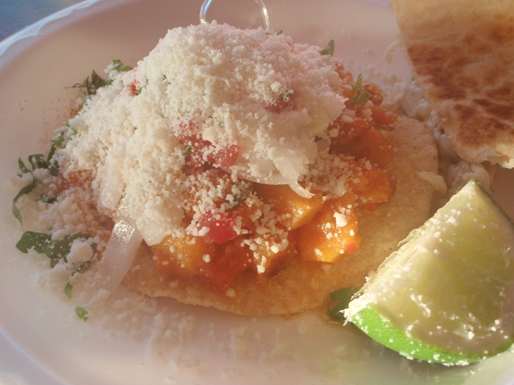 Tomato and Butternut Squash Tostada at the Taco Bus on Central Avenue ...