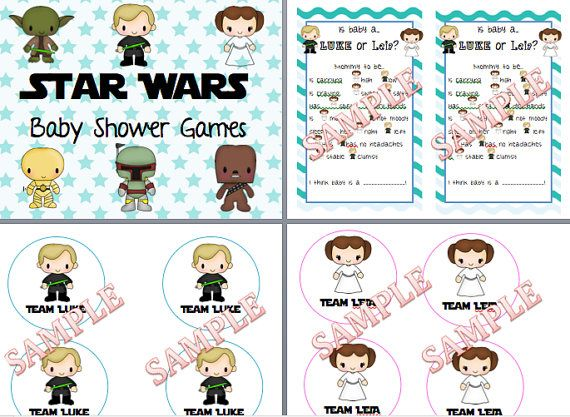 star wars baby shower or gender reveal party games