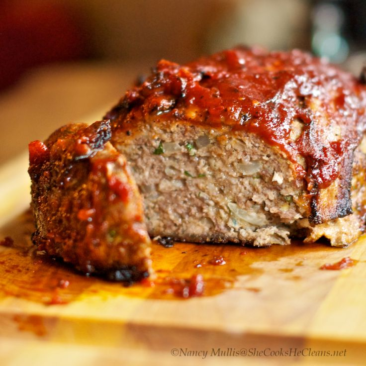 Meatloaf with Bacon, BBQ sauce | Food | Pinterest
