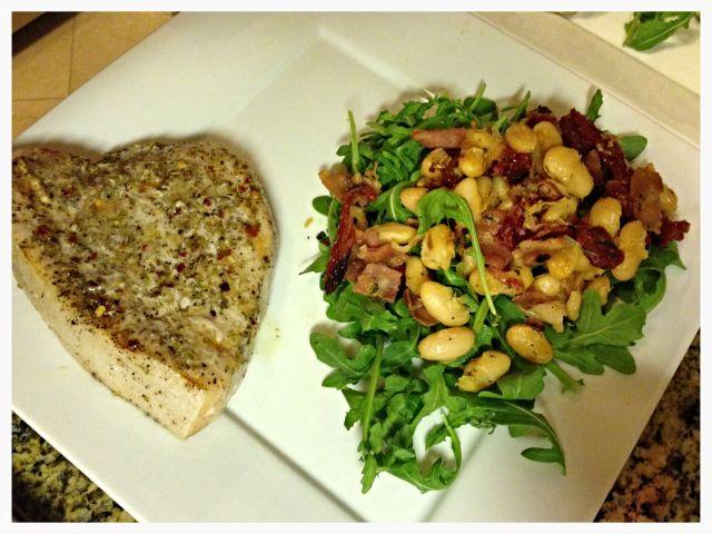 white bean arugula salad | Yummmmm | Pinterest