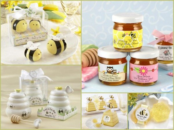 Bee Theme Baby Shower Favors from hotref.com