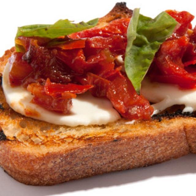 Roasted Tomato and Fresh Mozzarella Bruschetta