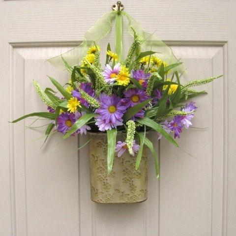Spring floral arrangement love it pinterest Spring flower arrangements for front door