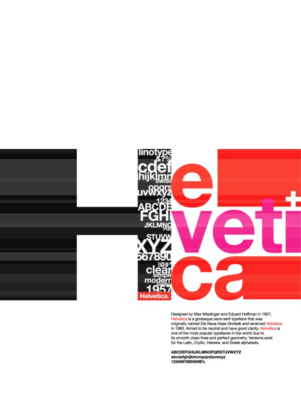 Helvetica Typography Poster by Jessica Reimer in Swiss Style Design Inspiration