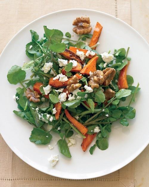 Watercress Salad with Roasted Sweet Potatoes - Martha Stewart Recipes ...