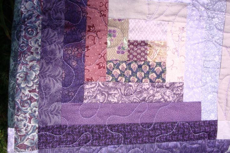 Purple log cabin | Quilts | Pinterest
