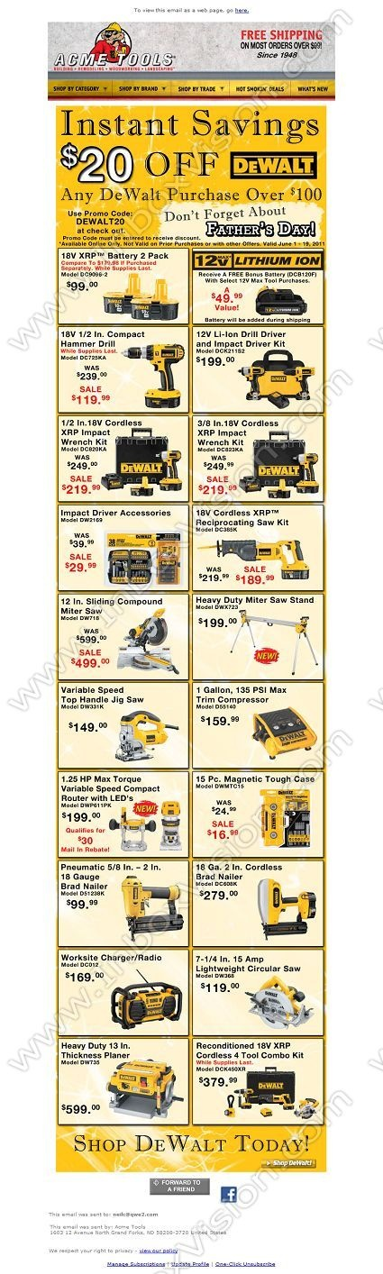 dewalt father's day promotion