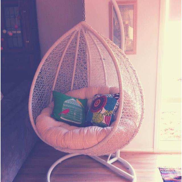 hanging pod chair lovely pinterest