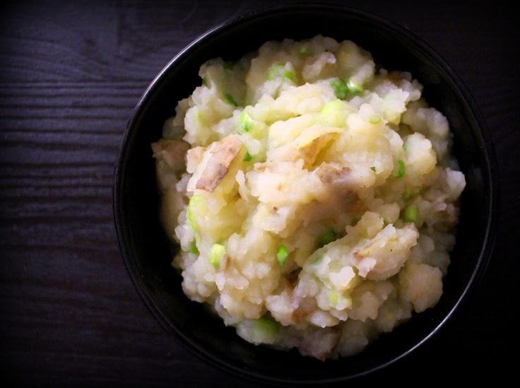 Skin-ny Scallion Mashed Potatoes | Good Eats | Pinterest