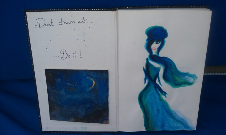"""My blue book! """"Don't dream it .... Be it"""""""
