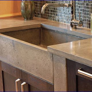 Concrete Kitchen Sink House Ideas Pinterest