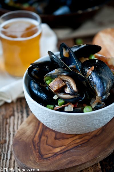 Beer-Steamed Mussels With Bacon Recipes — Dishmaps