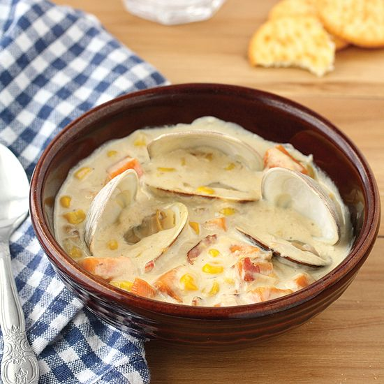 Sweet Potato and Corn Clam Chowder | Soups & Stews | Pinterest