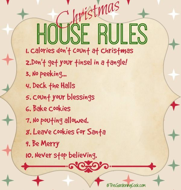Christmas Rules Grap Positive Quotes Inspiration