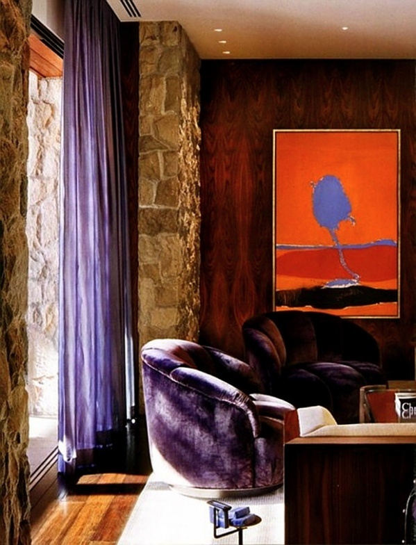 Orange and purple, my two favorite colors shown in Jennifer Anniston home <3 it!!