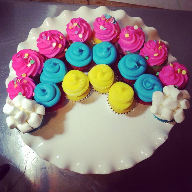 Rainbow Bright Cupcakes Recipe — Dishmaps