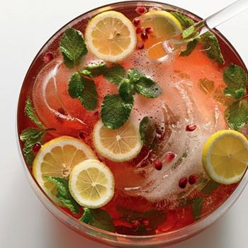 Pomegranate-Champagne Punch | Cheers with Cool, Refreshing Beverages ...