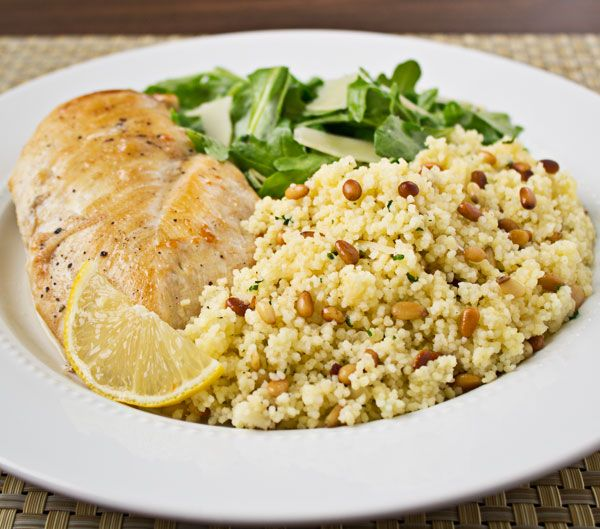 Couscous with Pine Nuts and Parmesan Cheese - Culinary Hill