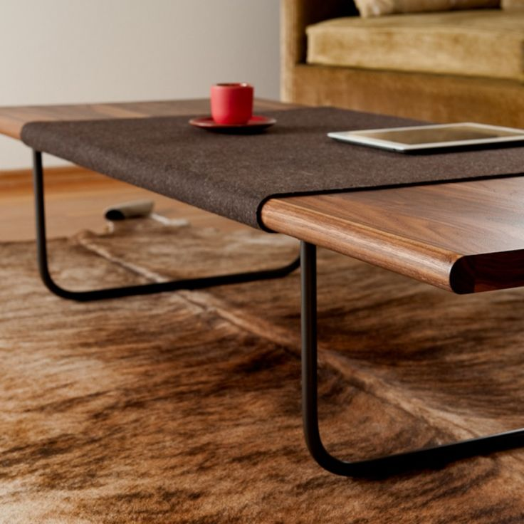 Couchtisch Holz Rund Oval ~ Local Seattle company Ample Sfelt coffee table with giant, builtin