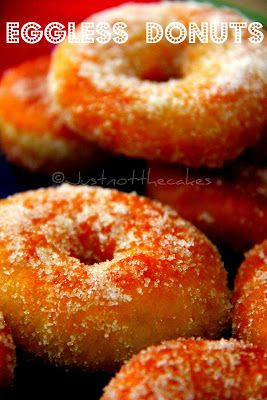 Eggless Crispy Creamy Donuts- Round Up | CAKES N BAKES | Pinterest