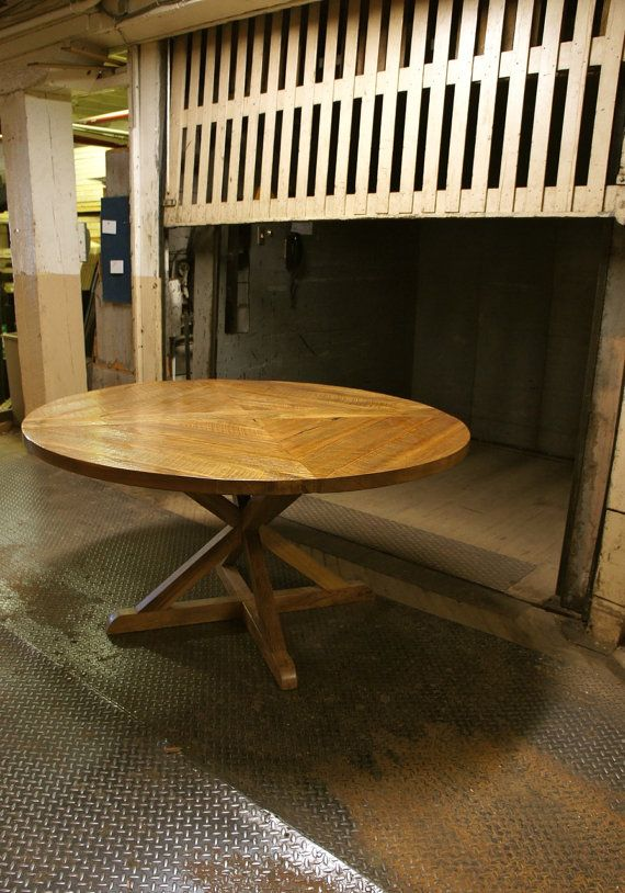 Round Reclaimed Barn Wood Dining Table By Blackwallfurniture 2300 00
