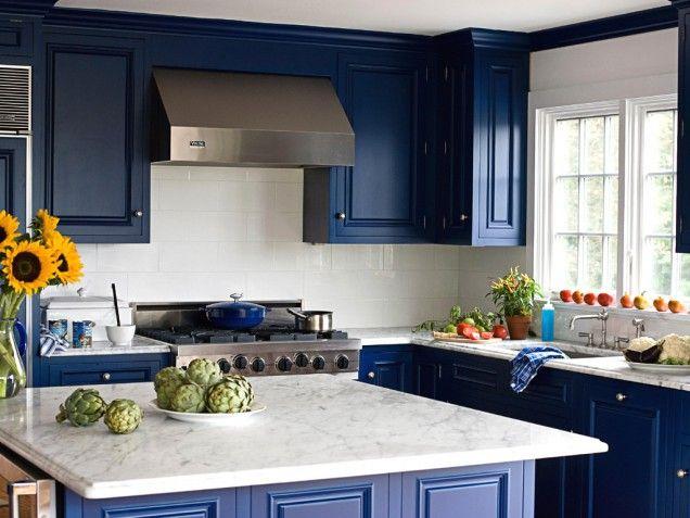 Royal Blue Kitchen Cabinets