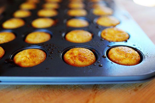Blueberry Corn Mini-Muffins Recipe — Dishmaps
