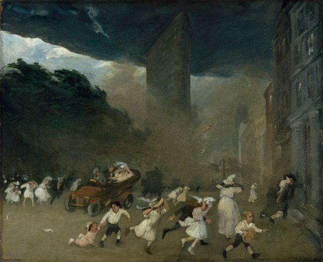 Dust Storm, Fifth Avenue, 1906  John Sloan (American, 1871–1951)  Oil on canvas