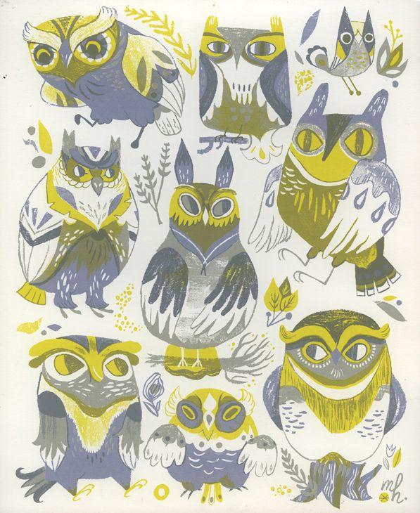 Pretty Things - Owls by Meg Hunt