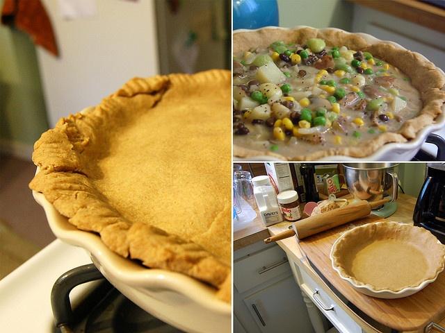 healthy veggie pot pie | Vegetarian Delights | Pinterest